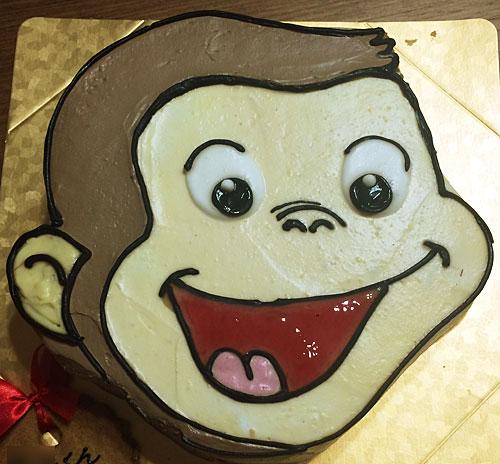 おさるのジョージの誕生日ケーキ