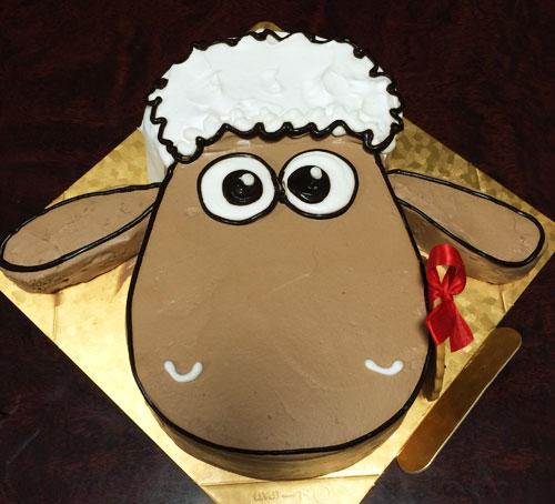 ひつじのショーンの誕生日ケーキ