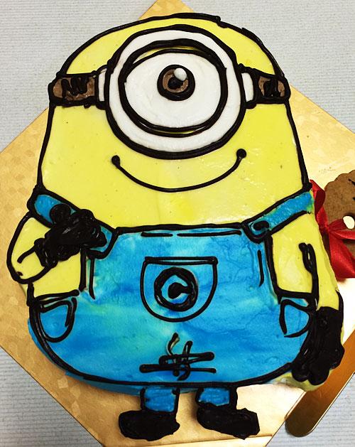 ミニオンズスチュワートの誕生日ケーキ