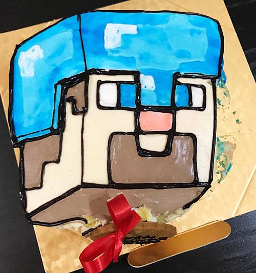 マイクラスティーブの誕生日ケーキ