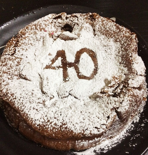 パパへの手作り誕生日ケーキ