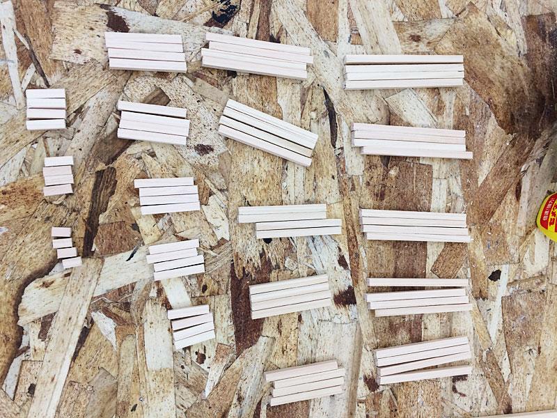 木材のカット後