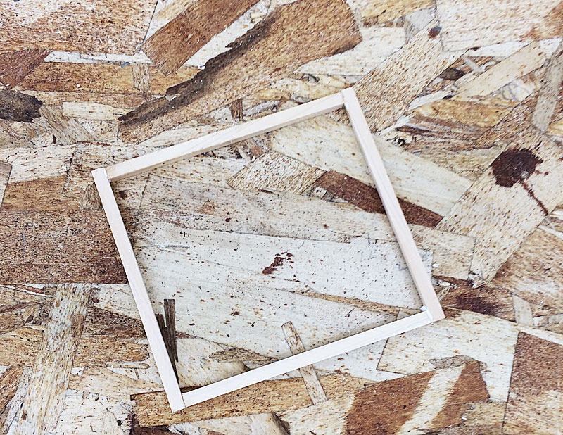 木材で枠の失敗例